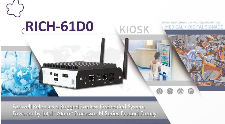 Portwell Releases a Rugged Fanless Embedded System Powered by Intel® Atom® Processor N Series Product Family