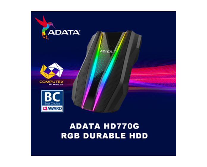 ADATA HD770G External Hard Drive and SE800 SSD Win Computex d&i Award HD770G also honored with a Best Choice Award