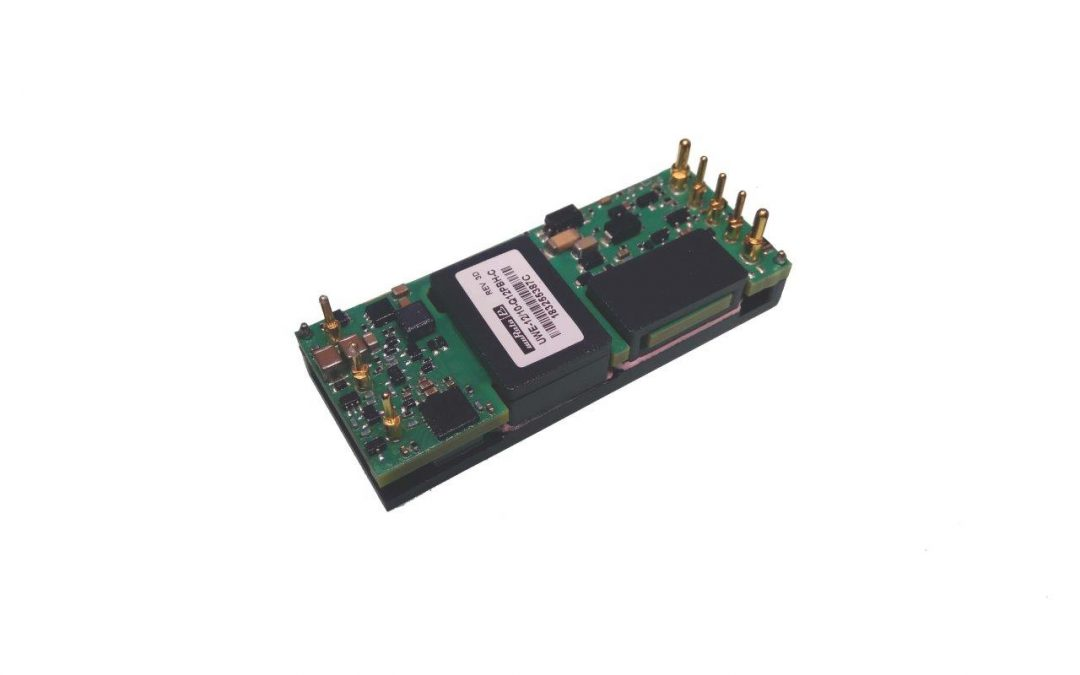 120W 1/8th brick DC-DC converter with 9-36Vdc range for industrial applications